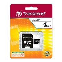 Secure Digital Card micro Transcend 1GB + SD adapter