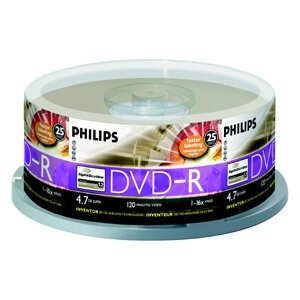 DVD-R Philips 4,7GB 25cake 16x