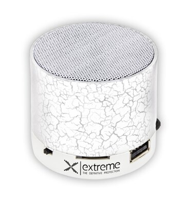 Přenosný Bluetooth reproduktor Extreme XP101W FLASH - FM radio - bílý