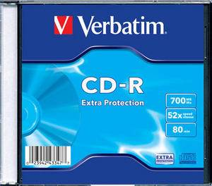 CD-R Verbatim DL 700MB 52x Extra Protection slim box 43347