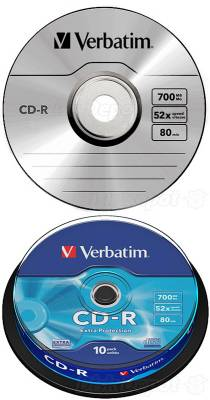 CD-R Verbatim DL 700MB 52x Extra protection 10-cake 43437