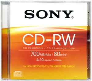 CD-RW SONY 700MB 4-10x jewel box