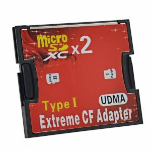 Adapter Compact Flash - micro SD double