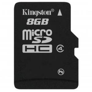 Kingston Micro Secure Digital, 8GB, micro SDHC, SDC4/8GBSP, Class 4, bez adaptéru