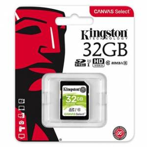 Kingston paměťová karta Canvas Select, 32GB, SDHC, SDS/32GB, UHS-I U1 (Class 10)