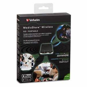 Verbatim Mediashare Wireless Portable, USB 3.0/USB 2.0/SD, 98243, černá