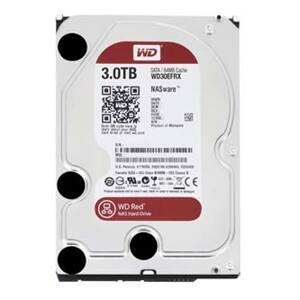 "Pevný disk, Western Digital, 3,5"", 3000GB, 3TB, Red Raid Editon, SATA III/600 64MB cache IntelliPower, WD30EFRX, černá"