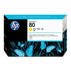 HP originální ink C4873A, HP 80, yellow, 175ml, HP DesignJet 1050, C, 1055, C, CM