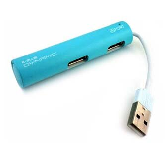 USB (2.0) hub 4-port, Dynamic Passion, modrý, E-BLUE